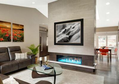 Modern Minimalist Fireplace