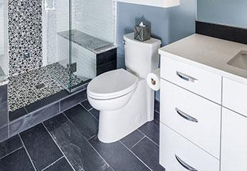 Contemporary Bathroom Includes Steam Shower
